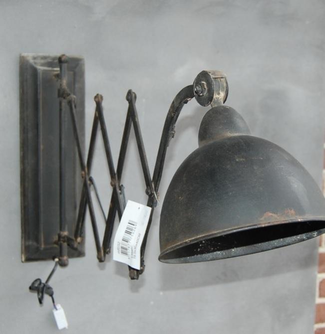 Prachtige schaarlamp met oude look