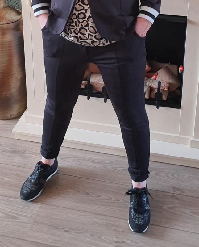Travel pantalon (zwart)