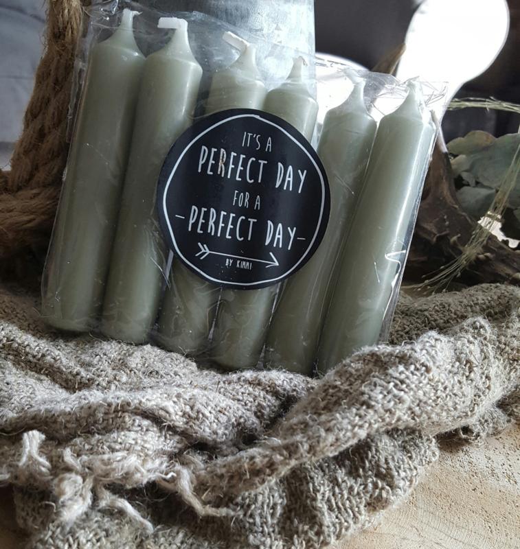 Setje kaarsen (groen)