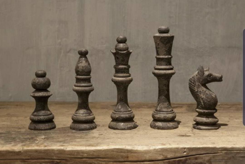 Houten schaaksetje