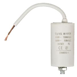 Condensator 2 micro farad / 450 volt met vaste kabel