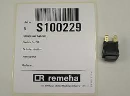 Remeha Calenta aan/uit schakelaar   S100229