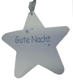"""Holz Stern klein """"Gute Nacht"""" 2 St."""