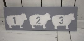 Canvas Schaap 1,2,3