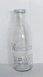 """Glazen fles """"Wasverzachter"""" 2 st."""
