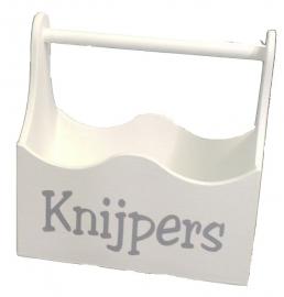 """Houten bakje """"Knijpers"""" 2 stuks"""
