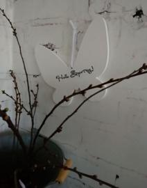 Houten vlinder mid. Hello Spring 4 stuks