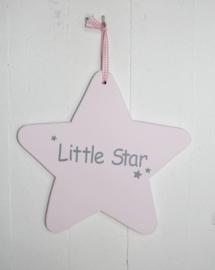 "Houten ster klein ""Little Star"" sti 2 stuks"