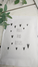 Geursachet Craft wit hugs and kisses 6 st.