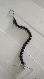 Kralenketting zwart 4 stuks