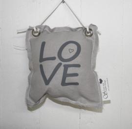 Hangkussentje Love 4 stuks