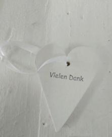 """Deko Herz kleines """"Vielen Dank"""" 6 St."""