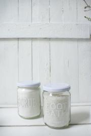 Badzout in pot - FOOT BATH wit 4 st.