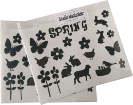 Silhouetjes - Spring 2vel - 6 st.