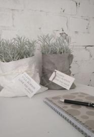 Paper plantbag grijs 4 st.