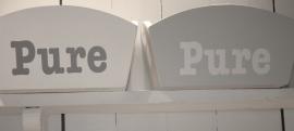 "Opbergbak groot wit ""Pure"" 2 stuks"