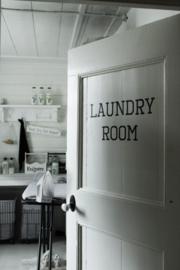 Muursticker Laundry Room 2st.