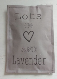 Geursachet Craft taupe Lots of Love and.. 6 st.