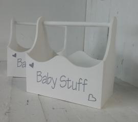 "Hölzerne box xl ""Baby Stuff"" 2 St."