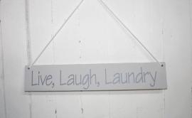 Bord Live, Laugh, Laundry 2 stuks