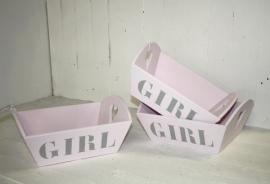 Dienblad GIRL 2 stuks