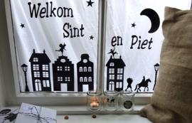 Raamsticker Welkom Sint en Piet 2 st.