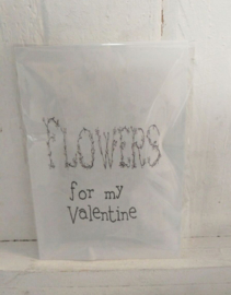 Geursachet Craft wit Flowers for my Valentine 6 st.