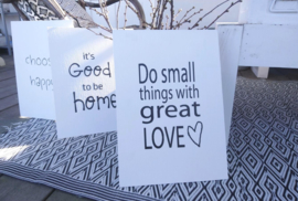Canvaspaneel Do small things 2 st.