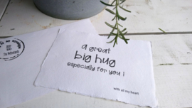 Kaart A5 Hug in an envelope 4 st.