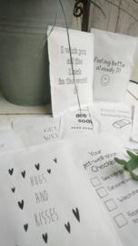 Geursachet Craft wit Checklist 6 st.