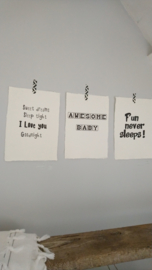 Poster A4 Awesome Baby 4 st.