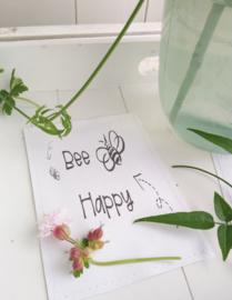 Sachet bloemenzaad Bee happy wit 6 st.