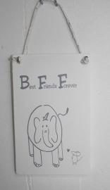 """Panel """"Bff Elefant und Maus"""" 2 St."""