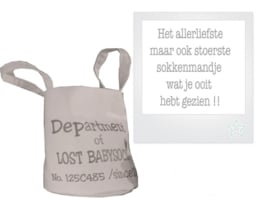 """Mand """"Department of lost babysocks"""""""