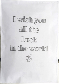 Geursachet Craft wit I wish you all the luck 6 st.