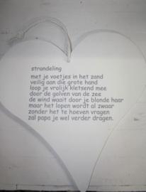 Hart gedichtje Strandeling