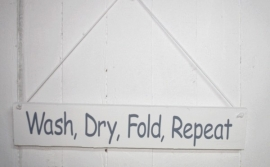 Bord Wash, Dry, Fold, Repeat