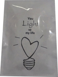 Geursachet Craft wit You light up my life  6 st.