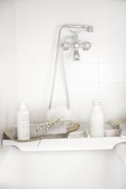 Showergel wit 1 ltr - witte tekst-dop 2 st.