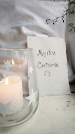 Kaart A5 My first Christmas 4 st.