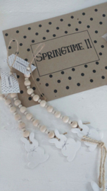 Keramik Hase 6 St an Perlenkette