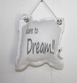 Hangkussentje Dare to Dream 4 stuks
