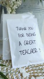 Geursachet Craft wit great teacher 6 st.
