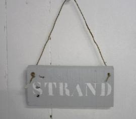 "Bordje juttershout ""Strand 4 st."