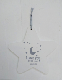 "Stern Holz ""I Love you to the moon and back"" 2 St."