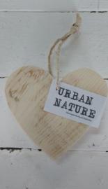"Houten hart  ""Urban Nature"" 6 st."