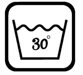 Sticker Wassymbolen 30C graden 6 st.