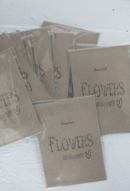 Sachet bloemenzaad Happiness naturel 6 st.
