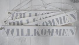 """Holzplatte """"Willkommen""""2 St."""