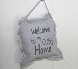 Hangkussentje Welcome to my cosy home 4 stuks
